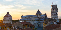 Pisa Sunset 12 (chriswalts) Tags: travel sunset italy streets tower night pisa leaning