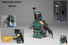 Square Enix: Boba Fett - Artwork Inspired series (TheCampervanTom) Tags: sculpture star lego painted boba wars custom fett