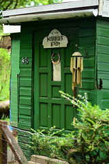 Wobbles End! (fletcherd5) Tags: green woodland scotland huts hut horseshoe windchimes chimes carbeth luckyhorseshoe carbethhuts woodlandhuts