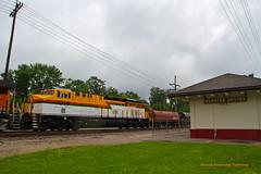 GECX #1019 @Webster Groves (tim_1522) Tags: santa electric burlington colombia power general sub cuba bn historic mo missouri depot fe foreign northern bnsf subdivision gevo es44ac