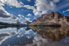 Bow Lake Reflection (gr7361) Tags: bowlake lakelouise canada rockies visipix canadianrockies reflection mountains alberta banffnationalpark lake