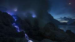 "... Blue Fire ""waterfall"" (liewwk - www.liewwkphoto.com) Tags: blue indonesia dawn java cater  eastjava ijen fiew  leefilter photohunter  liewwk wwwliewwkphotocom liewwknature"