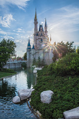 sunset castle (joe.diebold) Tags: disney world walt waltdisneyworld magickingdom tomorroland fantasyland rivers america frontierland sunset reflections florida themepark