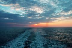 On the water (sandrabelder) Tags: ocean sunset sea noordzee northsea