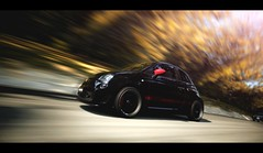 Abarth 500 (Thomas_982) Tags: gt5 gt6 cars fiat abarth 500 motion panning street ps3 granturismo black italy outdoor