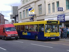 Kinch 899 Loughborough (Guy Arab UF) Tags: bus buses pointer leicestershire 1996 dennis dart loughborough skylink slf 899 kinch plaxton p411bnr wellglade wellgladegroup