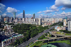 () Tags: china skyline skyscraper shenzhen cbd  canton diwang luohu kk100 100