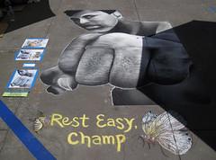 Still The Greatest at the Pasadena Chalk Art Festival (Robb Wilson) Tags: 2016pasadenachalkartfestival chalkart muhammadali pasadena boxing