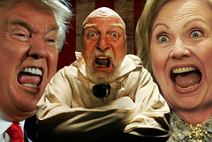 Night Terrors at Saint Dymphna's Mental Hospital (Studio d'Xavier) Tags: werehere thenutcasesociety donaldtrump hillaryclinton election usa politics straightjacket saintdymphnasmentalhospital 365 august222016 235366