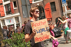 Spuistraat - Amsterdam (netherlands) (Meteorry) Tags: europe nederland netherlands holland paysbas noordholland amsterdam amsterdampeople candid centrum centre center spuistraat street rue manifestation demonstration man homme male boy twink guy sunglasses lad july 2016 meteorry