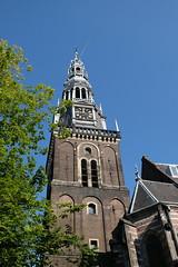 Tower of the Oude Kerk (DennisM2) Tags: oudekerk amsterdam kerktoren churchtower