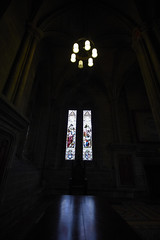 Inside Glasgow cathedral (61) (dddoc1965) Tags: dddoc davidcameronpaisleyphotographer glasgow cathedral necropolis landmark scotland october 7th 2016 cloudy precinct autumn yellow trees windows ceiling stone arcitech flags kenny game thrones