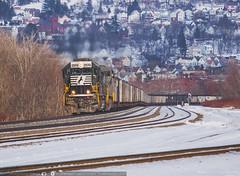 Westbound Wall Coal (benpsut) Tags: emdsd70 ns nspittsburghline snow westbound westboundcoal winter coal railroad standardcab trains wilmerding pennsylvania unitedstates us