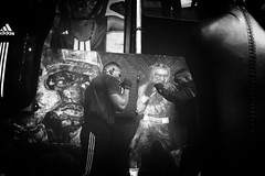 Boxing Beats, Aubervilliers, France (johann walter bantz) Tags: boxe boxer boxing club boxingbeats bw 93 aubervilliers banlieue france europe sport sportphotography fitness anglaise bantz nikon d4s 35mm fineart style