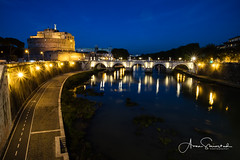 Castel S Angelo by Tiger (Kvervil) Tags: tiger river castel s angelo rome italy trsavel night light slow city old vatican