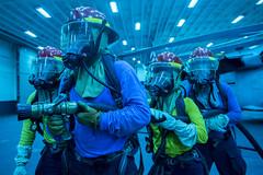 160928-N-JS726-773 (SurfaceWarriors) Tags: navy marines amphibiousassault southchinasea bonhommerichard damagecontrol training firefighting expeditionarystrikegroup underway deployment military