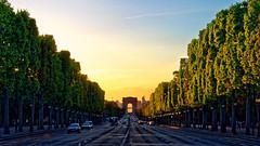 Elysium Sunset (Joseph Trojani) Tags: paris arcdetriomphe coucherdesoleil sunset champselyses elysium nikon d7000