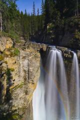 Rainbow at Upper Falls, Johnston Canyon (owenweberlive) Tags: johnstoncanyon banff waterfall longexposure hdr canada rockies canadian