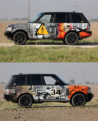rangeXmonstfur (Monstfur) Tags: streetart stencil rover landrover range rangerover monstfur