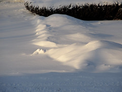 Sunlit Snowbank (Lunken Spotter) Tags: winter columbus ohio snow cold ice frozen frost suburban snowy suburbia frosty oh suburbs suburb icy wintertime snowfall snows wintry franklincounty centralohio