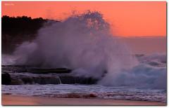 Explosive ('Mick's Pics') Tags: ocean morning sea seascape color colour sunrise canon dawn sand rocks flickr surf waves shoreline sydney wave australia nsw newsouthwales northernbeaches canonphotography outdoorphotography turrimetta mickspics