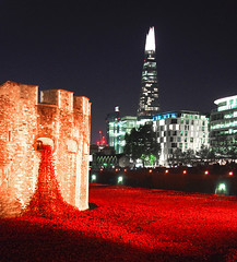 D12104.  The Tower of London Poppies. (Ron Fisher) Tags: uk greatbritain england london night pentax unitedkingdom poppies gb nightshots toweroflondon pentaxkx