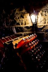 Bottles of sparkling (rferrarim) Tags: light brazil lamp darkness wine bottles production cave sparkling bentogonçalves