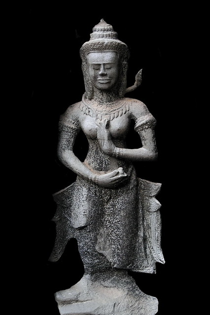 Cambodia - Ta Prohm Temple - Devataa - 13b
