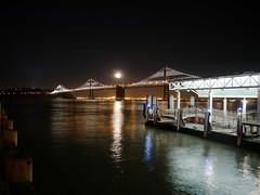 San Francisco_Ferry Pier Moonrise (J_blu) Tags: sanfrancisco ferry oakland bay pier moonrise baybridge sanfranciscobay