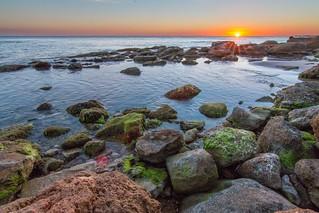 The sea kisses the sun. Timpi Russi, Sciacca.