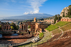 Ancient Greek theatre, Taormina,  Sicily. (Frans.Sellies) Tags: italien italy italia day clear sicily taormina italie itali 20141127img9583