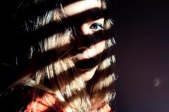 Buio (Pa!) Tags: shadow portrait woman colors girl female donna model colours stripes ombre pa blonde redlips colori ritratto viso ragazza righe faccia bionda volto modella paolozapparoli