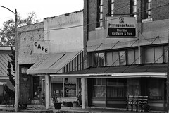 Rural America (WigMastur) Tags: old bw building fall streetphotography arkansas stores tonality canon24105l canon70d