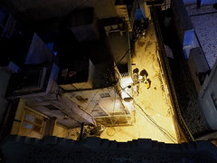 Looking down (DarkLantern) Tags: light india night photography alleyway indien available rajasthan inde jodhpur