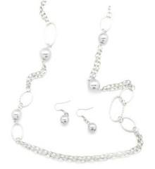 5th Avenue Silver Necklace P2210A-1