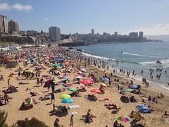 La playa a Viña del Mar
