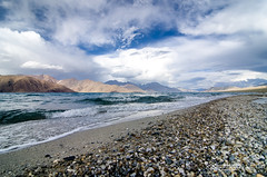 Winds started playing.. (_Amritash_) Tags: travel india mountains water clouds landscape waves wind roadtrip pebbles cloudscape stormclouds pangong mountainrange mountainscape pangongtso pangonglake colorsofindia incredibleindia colorsofladakh pangongrange roadtriptoladakh पांगोंगत्सो mountainsnap landscapeinladakh སྤང་གོང་མཚོ spanggongmtsho eveninginhimalayas roadtripinhimalayas exploringinfinity