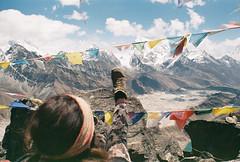 the closest I'll get to climbing Mt Everest (Keitha Haycock [rambling woman]) Tags: camping nepal mountains love film trekking 35mm pentax hiking earth glacier wanderlust himalaya tramping expiredfilm gokyo gokyolakes ngozumpo