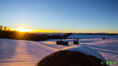 192nd view (DKG Images) Tags: blue winter sunset sky sun sunlight snow canada calgary nature colors landscape evening colorful view damien explore alberta harmony hay goodyear feild dkg explored 60d dkgimage dkgimages