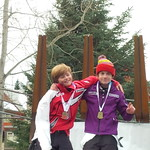 Whistler January U14 Teck event, combined slalom boys - Nathan Romanin finished 1st and Tait Jordan finished 2nd PHOTO CREDIT: Steele Jordan
