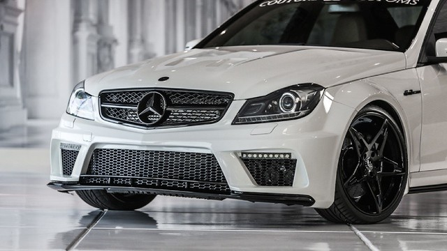 black sedan mercedes benz design body side rear wide front bumper lip kit custom edition luxury fenders skirts amg spoiler cclass prior c63 httpwwwpriordesignnorthamericacom widenings ph8669972336 infopriordesignnorthamericacom