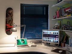 Home Office December 2014 (John Rainsford) Tags: home apple book design office mac lego air books mini pushed shelves macbook