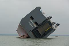 Hoegh Osaka (John Ambler) Tags: john photos bank run photographs maritime solent aground brambles ambler asaka hoegh johnambler