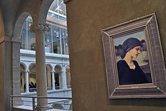 Flamma Vestalis (AntyDiluvian) Tags: cambridge college boston museum painting university arch massachusetts harvard harvardsquare column harvardyard artmuseum atrium preraphaelite fogg sackler burnejones edwardburnejones buschreisinger harvardartmuseums flammavestalis