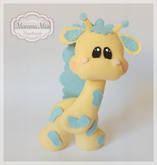 Dona Girafa (Mamma Mia Handmade) Tags: felt infantil feltro enfeite