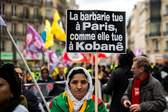 Marche Kurde pour Fidan, Sakne et Leyla (dprezat) Tags: street people paris nikon lutte contest protest charlie hommage politique manif manifestation kurdistan politic d800 rsistance charliehebdo kurde nikond800 koban sakinecansiz fidandogan leylasaylemez