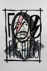 dave grohl / foo fighters (nicouze) Tags: portrait david dave painting logo fun bowie funny paint drawing aquarelle peinture foo draw fighters ziggy stardust grohl nicouze