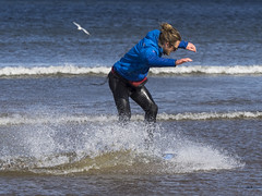 Skim Boarder 014 (KeithProvenArtist) Tags: sea beach sport scotland surf waves play fife standrews westsands skimboarder