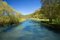 """Im Blautal"" (helmet13) Tags: colors sunshine landscape spring raw peaceful bluesky valley aoi 100faves riverblau peaceaward heartaward swabianjura platinumheartaward world100f d800e"