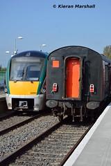 22060 and 3173 at Hazelhatch and Celbridge, 16/5/16 (hurricanemk1c) Tags: irish train rail railway trains hatch railways irishrail rok rotem 2016 icr iarnrd 22000 22060 ireann iarnrdireann 3pce hazelhatchandcelbridge